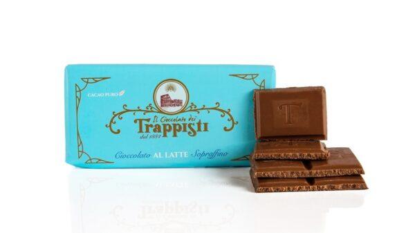 Barretta di Cioccolato al Latte da 50g da lavorazione lenta secondo l'antica ricetta Trappista