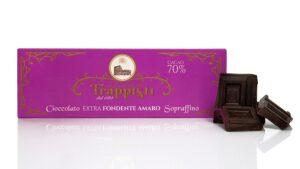 Tavoletta di Cioccolato Extra Fondente Amaro al 70% di cacao da 150 grammi, preparata con lavorazione artigianale secondo antica ricetta Trappista
